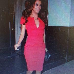 ASOS - stretch red midi dress